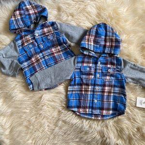 Tucker + Tate Blue Billy Plaid Woven Flannel Shirt